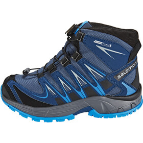Salomon XA Pro 3D Mid CSWP Shoes Kids slateblue/blue depth/bright blue
